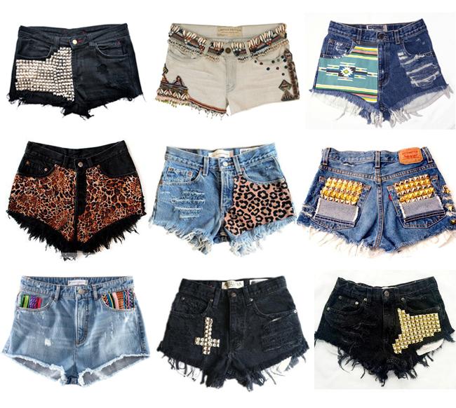 Шорты со старых джинсов