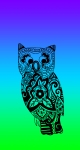 BlueGreenPurpleOwl