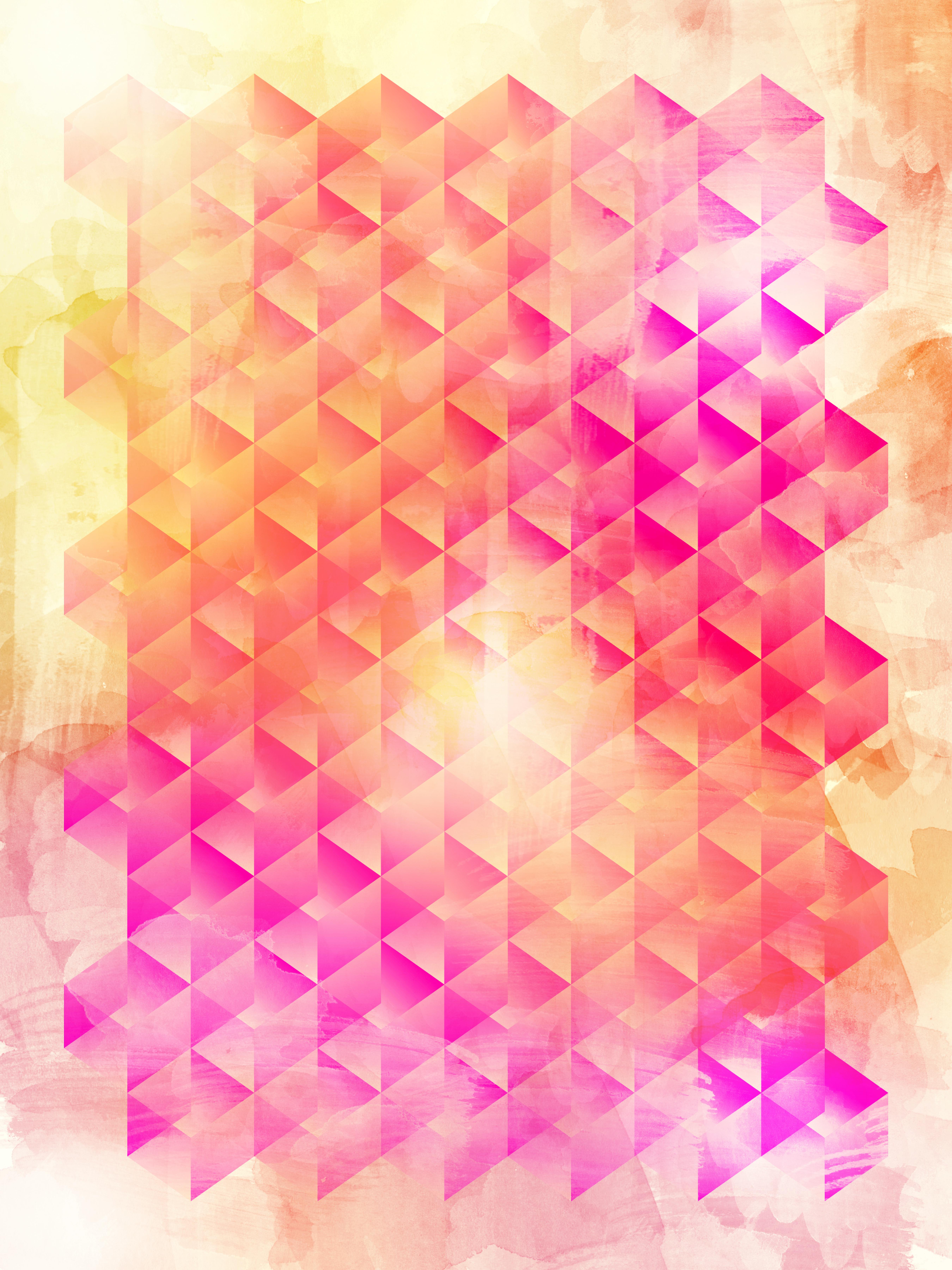 Pinkorange Geometric Print